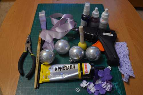 Елочные шары скрапбукинг
