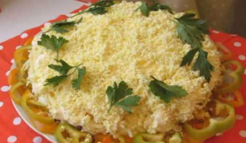 Пошаговый рецепт салата Мимоза с консервами,