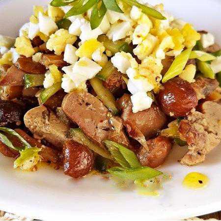 Рецепты салата с печенью и грибами, секреты